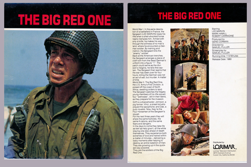 Pictured is a US two-sided promotional herald for the 1980 Samuel Fuller film The Big Red One starring Lee Marvin.