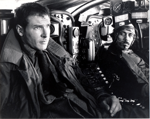 Pictured is a US promotional still photo from the 1982 Ridley Scott film Blade Runnder starring Harrison Ford.