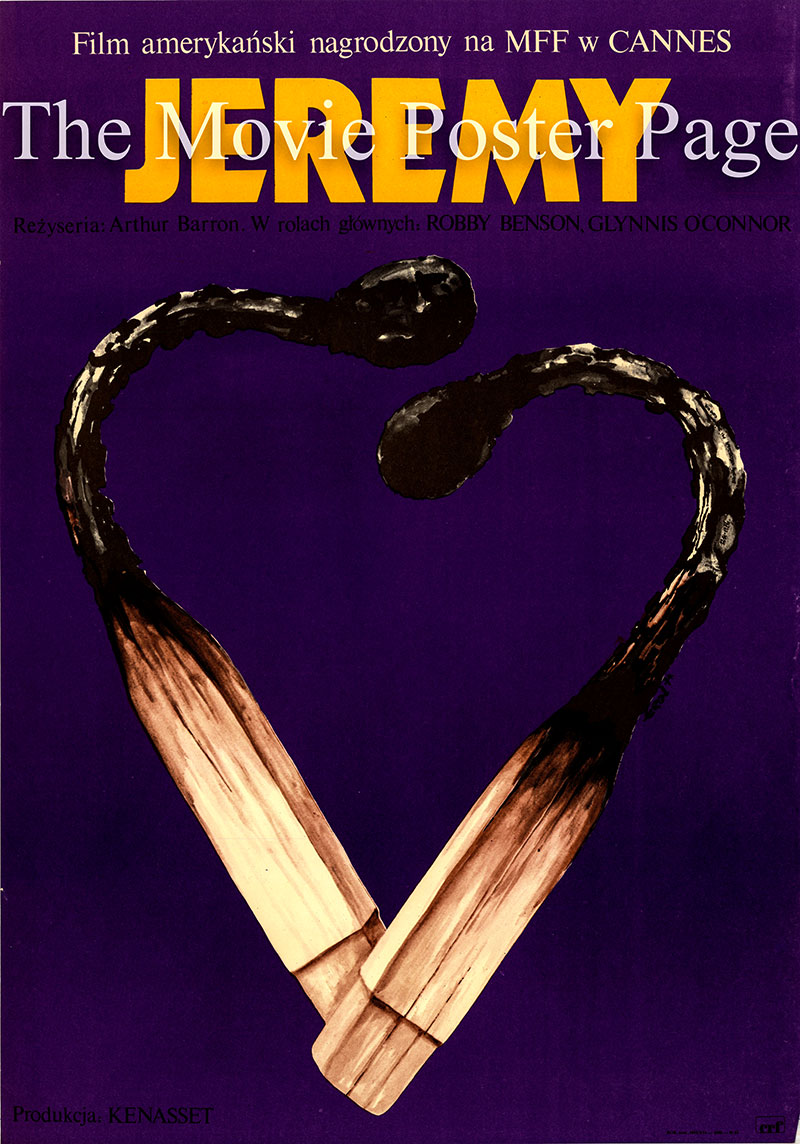 Pictured is a Polish poster for the 1973 Arthur Barron film Jeremy starring Robby Benson as Jeremy Jones.