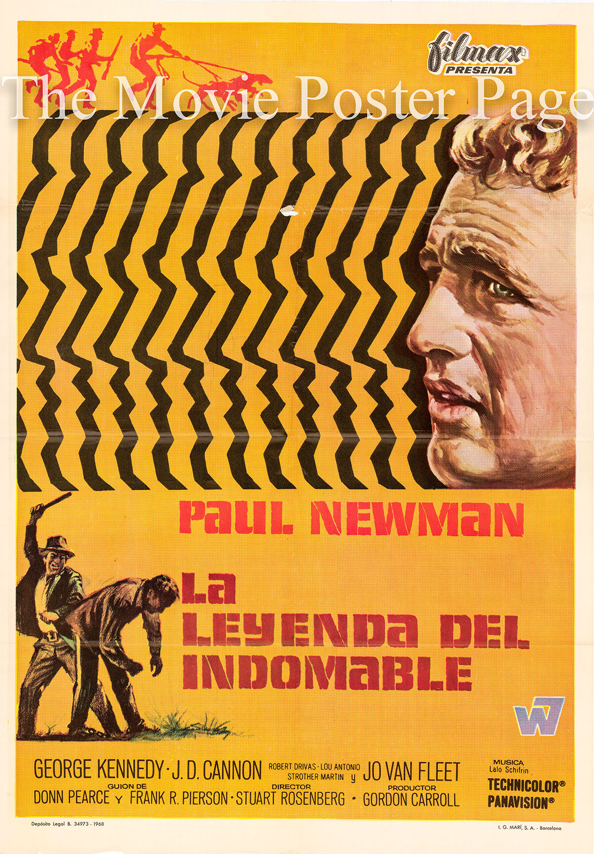 Pictured is a Spanish promotional poster for the 1967 Stuart Rosenberg film Cool Hand Luke starring Paul Newman.
