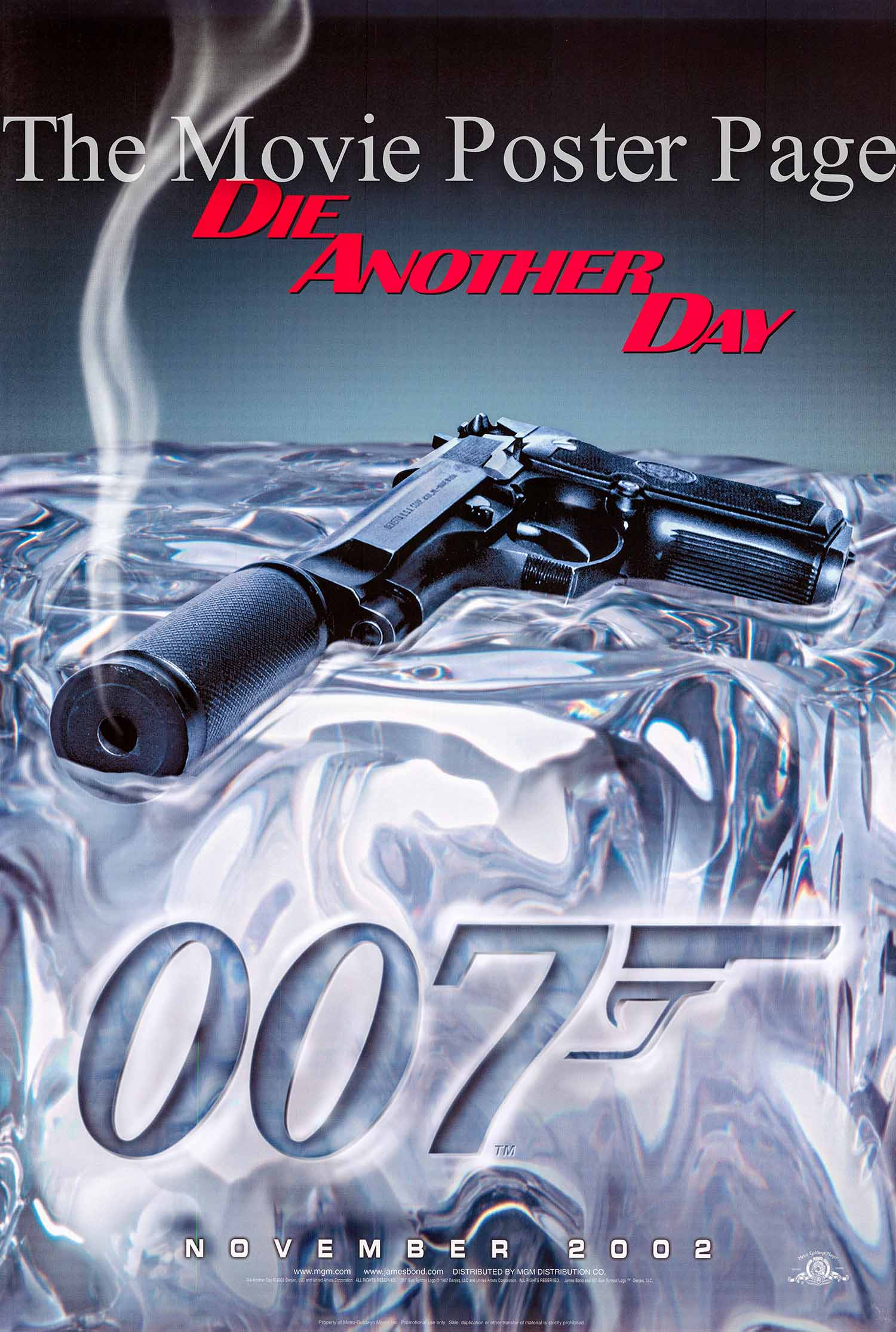 Pictured is an advance one-sheet poster made to promote the 2002 Lee Tamahori film Die another Day starring Pierce Brosnan as James Bond.
