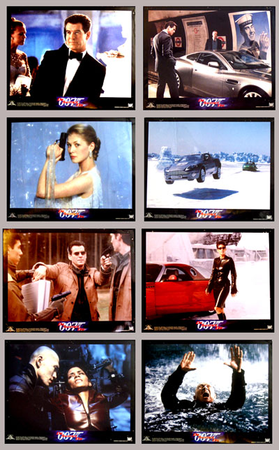 Pictured is a US 11x14 promotional lobby card set for the 2002 Lee Tamanhori film Die Another Day starring Pierce Brosnan and Halle Berry.