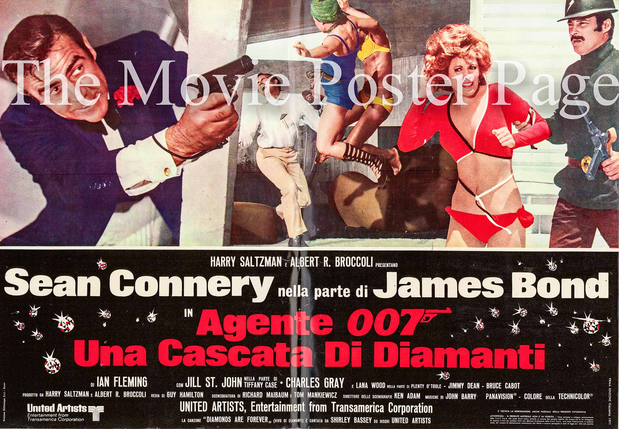 Pictured here is an Italian busta poster made to promote the 1971 Guy Hamilton film Diamonds are Forever starring Sean Connery.