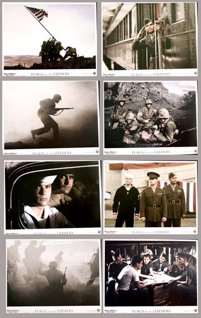 Pictured is a US promotional lobby card set for the 2006 Clint Eastwood film Flags of our Fathers, starring Ryan Phillippe.