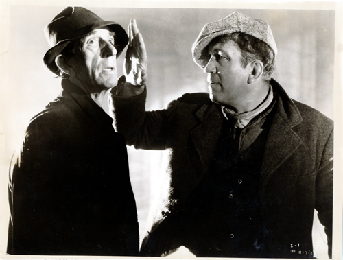 Pictured is a US promotional still photo from the 1935 John Ford film The Informer starring Victor McLaglen.