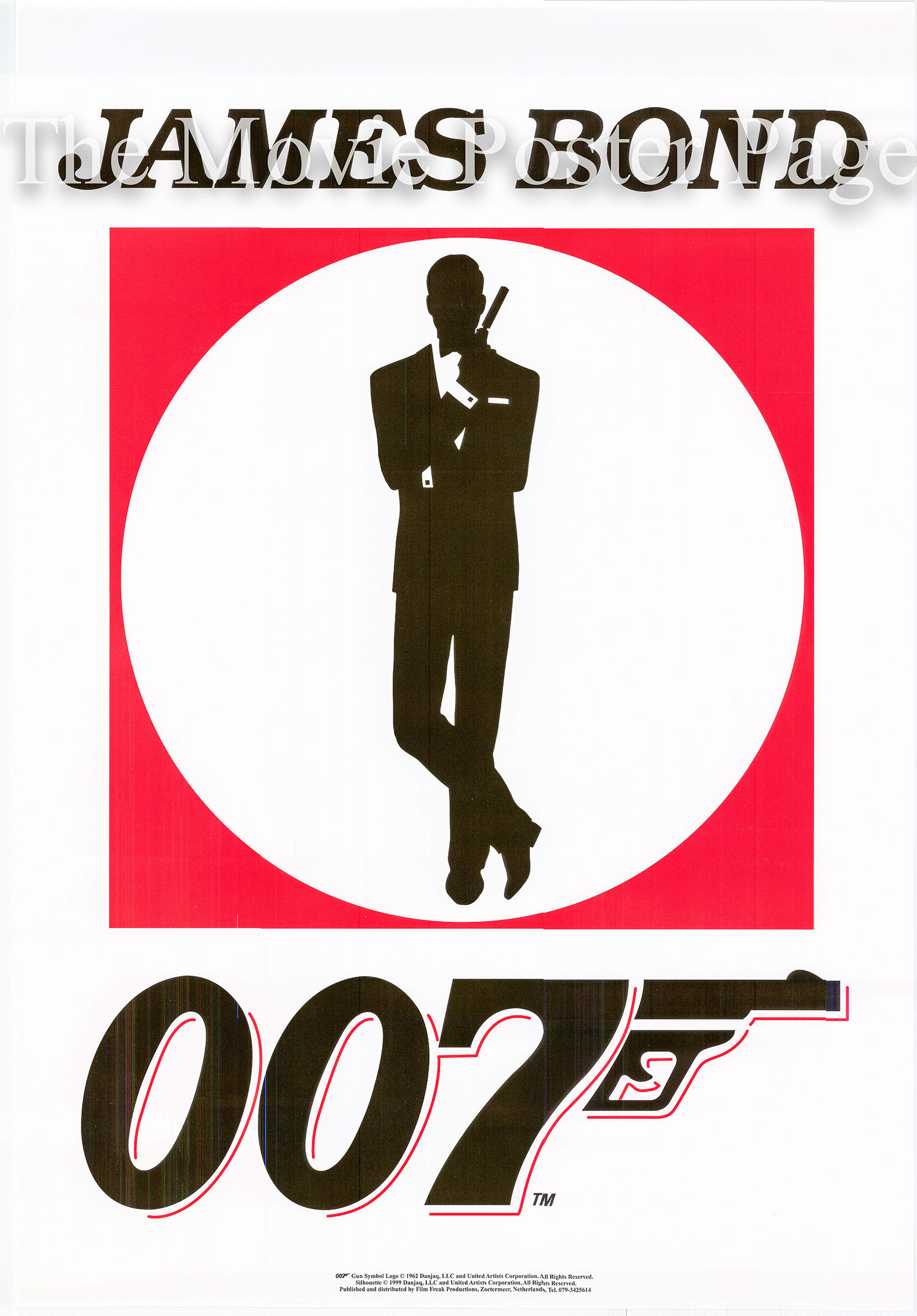 Pictured is a James Bond Logo poster.