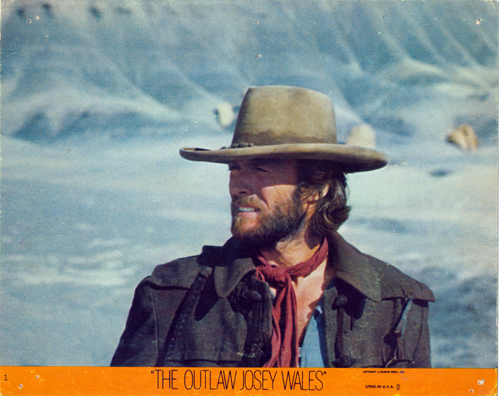 Pictured is a US promotional color lobby card from the 1976 Clint Eastwood film The Outlaw Josey Wales starring Clint Eastwood.