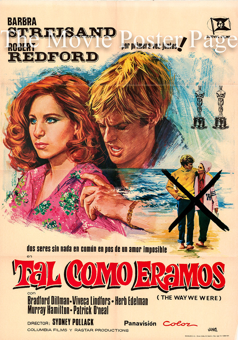 Pictured is a Spanish one-sheet poster for the 1973 Sydney Pollack film The Way We were starring Barbra Streisand as Katie.