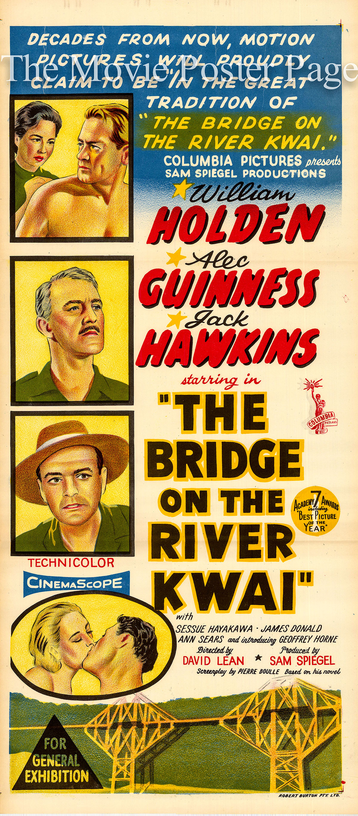 Pictured is an Australian daybill poster for the 1958 David Lean film The Bridge on the River Kwai.