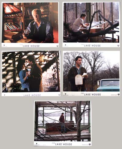 Pictured are 5 US promotional lobby cards for the 2006 Alejandro Agresti film Lake House starring Keanu Reeves.