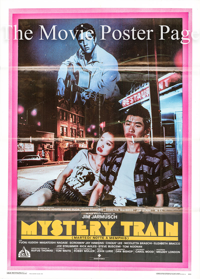 Pictured is an Italian two-sheet poster for the 1989 Jim Jarmusch film Mystery Train starring Masatoshi Nagase as Jun.