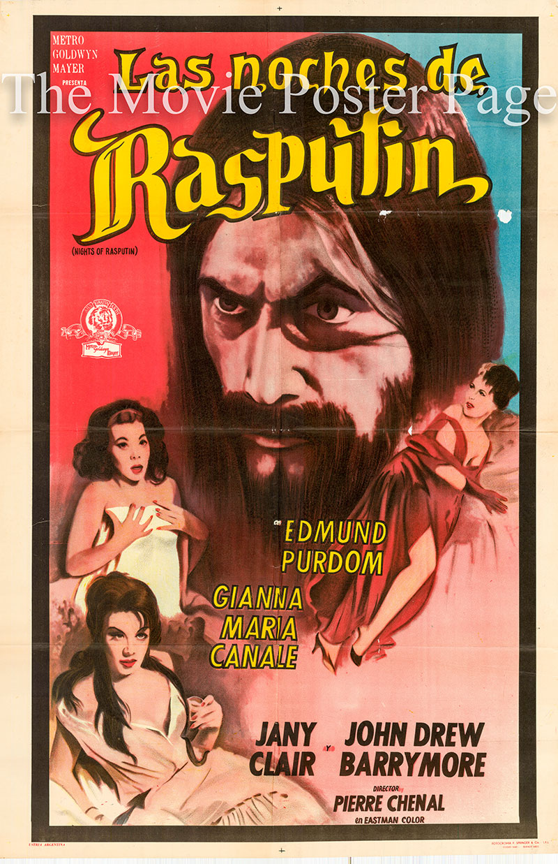 Nights of Rasputin 1960 John Drew Barrymore Argentine one