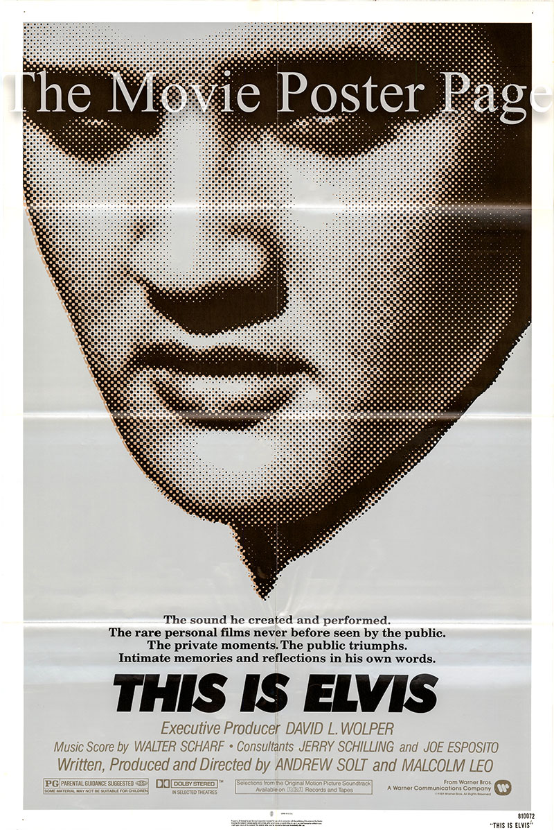This is a US one-sheet poster for the 1981 Malcolm Leo and Andrew Solt film This is Elvis starring Elvis Presley as himself in archival footage.