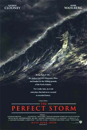 Pictured is a US one-sheet promotional poster for the 2000 Wolfgang Petersen film The Perfect Storm starring George Clooney.