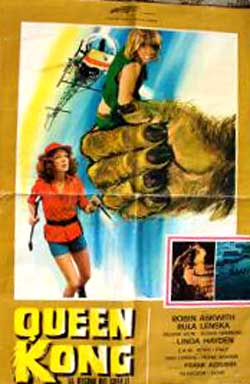 Queen Kong (1976) - (Robin Askwith) Italian one-sheet F, VG $55 *