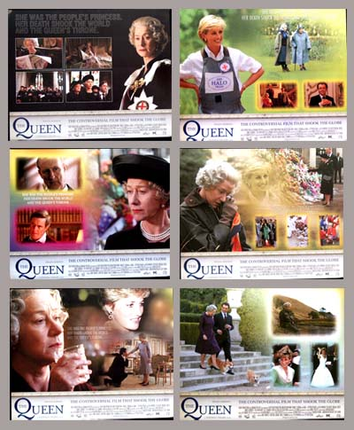 Pictured is a US promotional lobby card set for the 2005 Stephen Frears film The Queen starring Helen Mirren.