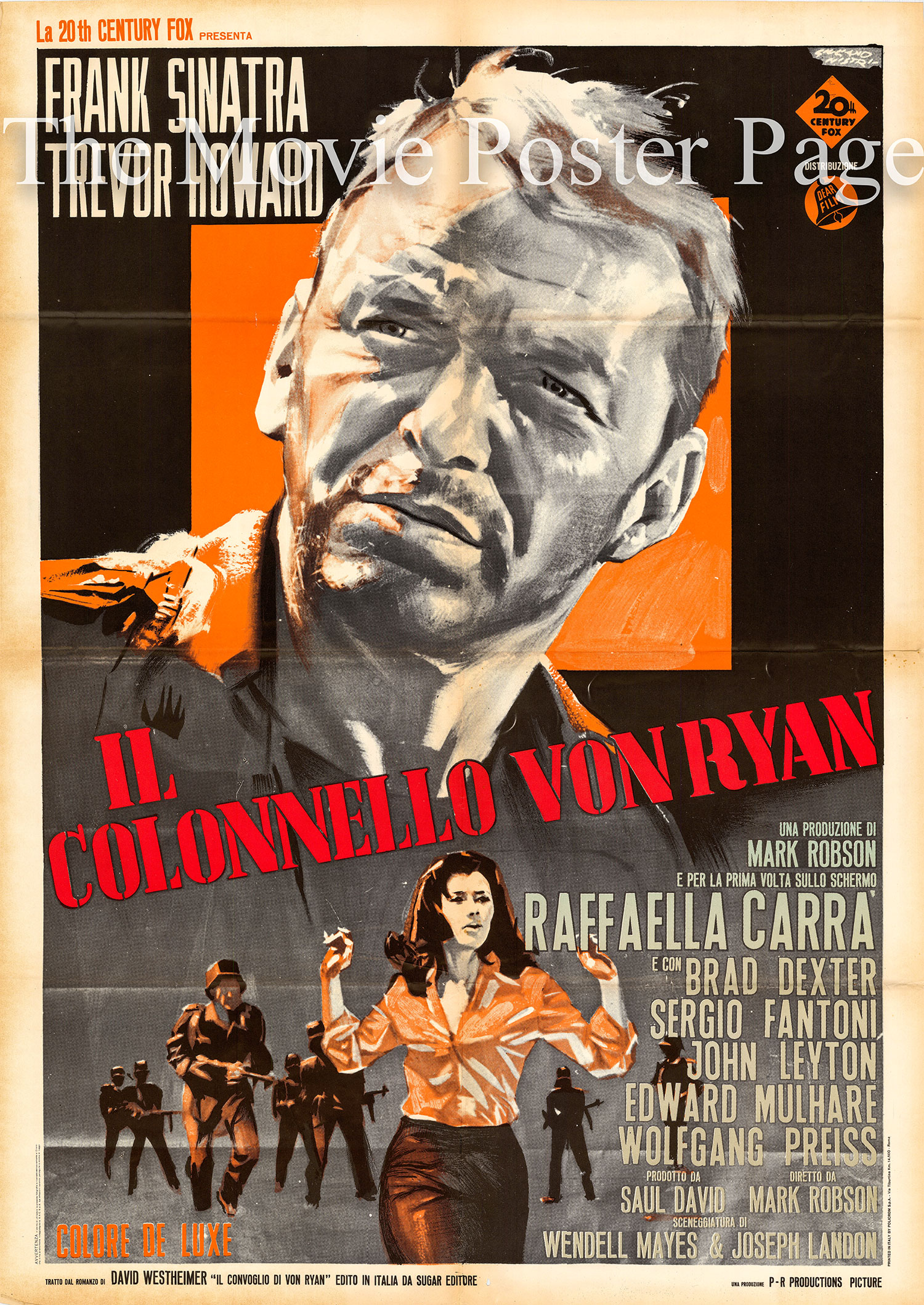 Pictured is an Italian two-sheet poster for the 1965 Mark Robson film <i>Von Ryan's Express</i> starring Frank Sinatra.