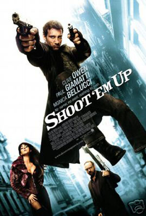 Pictured is the US promotional one-sheet poster for the 2007 Michael Davis film Shoot em Up starring Clive Owen.