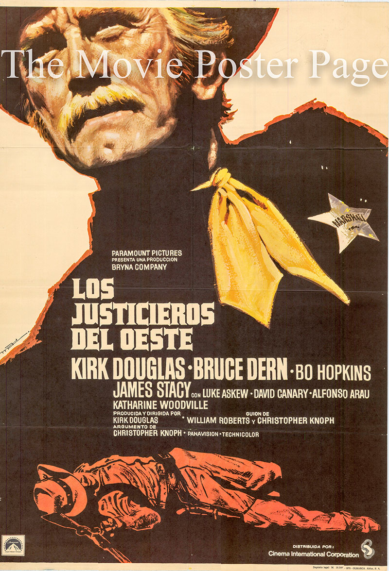 Pictured is a Spanish one-sheet poster for the 1975 Kirk Douglas film Posse starring Kirk Douglas as Howard Nightingale.