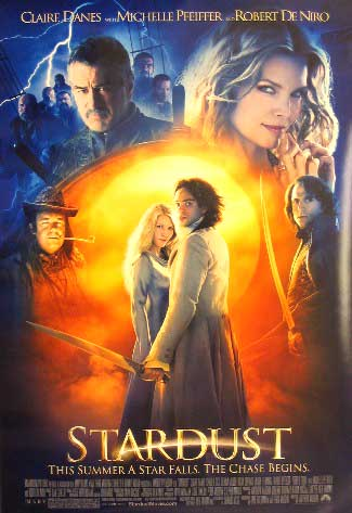 Pictured is the US promotional one-sheet poster for the 2007 Matthew Vaughn film Stardus, starring Claire Danes, Robert De Niro and Michelle Pfeiffer.