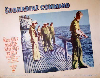 Submarine Command 1951 William Holden Us Lobby Card