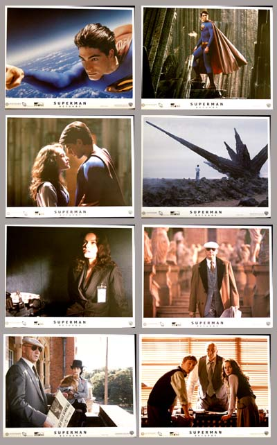 Pictured is a US promotional lobby card set for the 2006 Bryan Singer film Superman Returns starring Brandon Routh.
