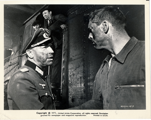 Pictured is a US promotional still photo from the 1964 John Frankenheimer film The Train starring Burt Lancaster.