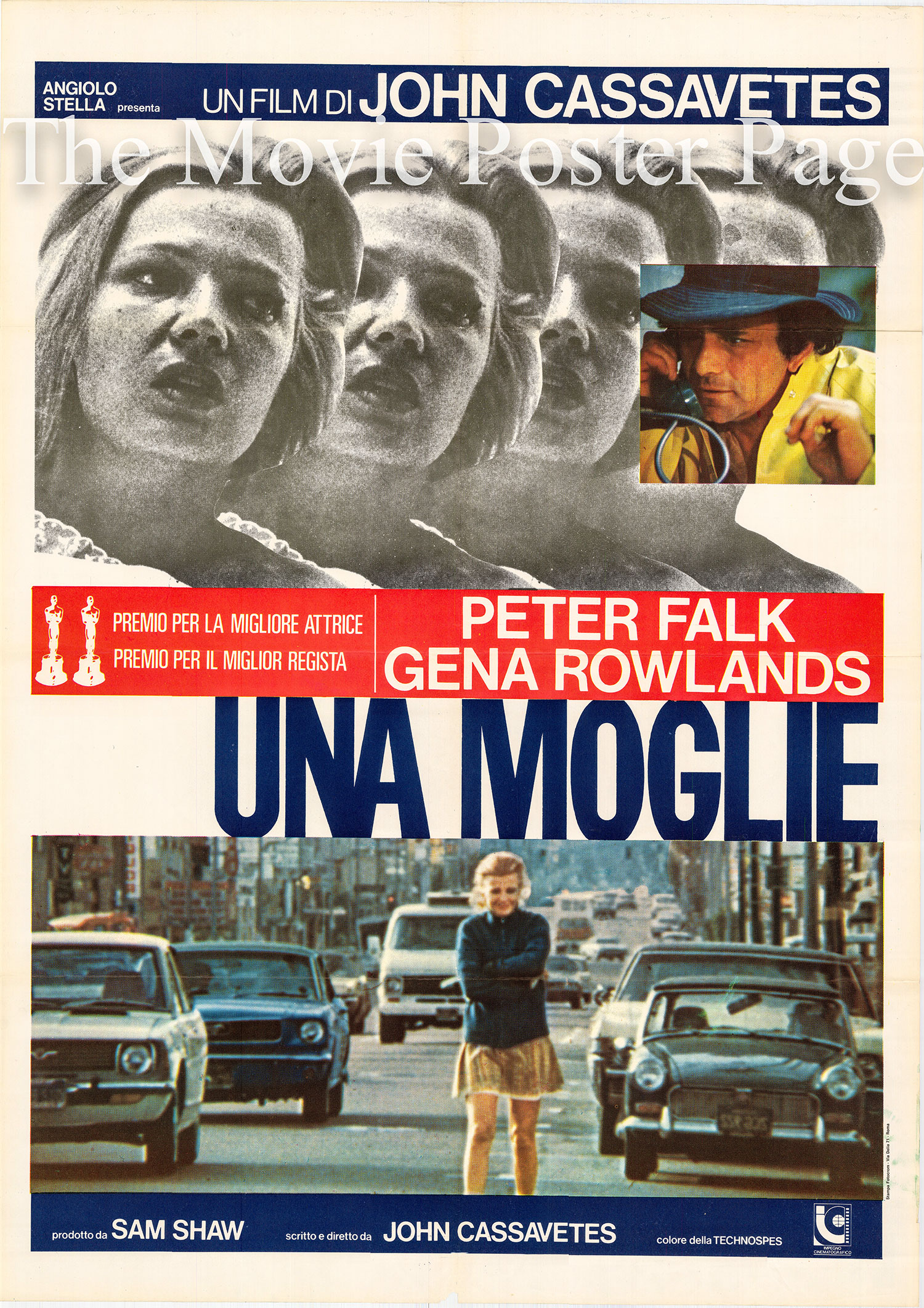 Pictured is an Italian two-sheet promotional poster for the 1974 John Cassavetes film <i>Woman under the Influence</i> starring Gina Rowlands.