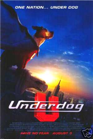 Pictured is the US promotional one-sheet poster for the 2007 Frederik Du Chau film Underdog starring Jason Lee.