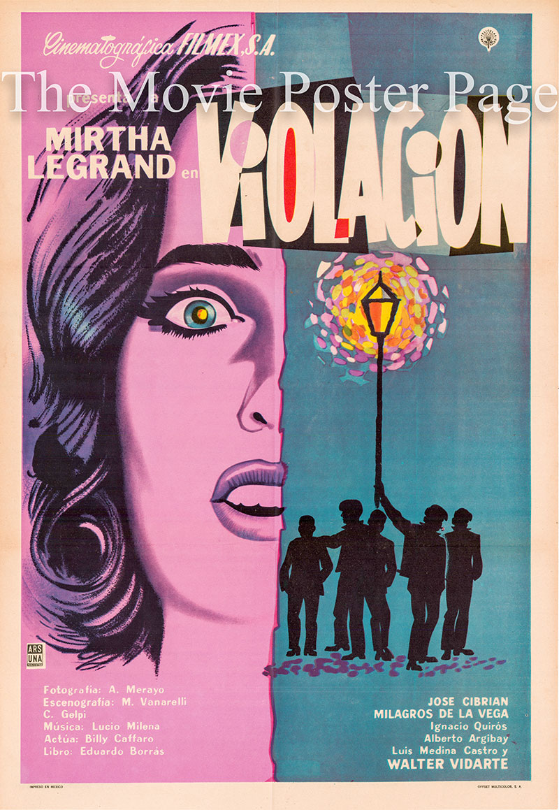 Pictured is a Mexican one-sheet poster for the 1960 Daniel Tinayre film The Gang starring Mirtha Legrand as Paulina Vidal Ugarte.