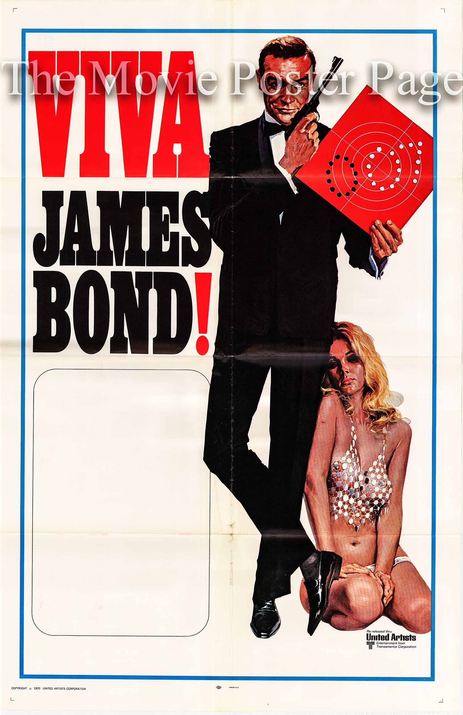 Pictured is a James Bond stock poster issued in 1970 showing Sean Connary as James Bond.