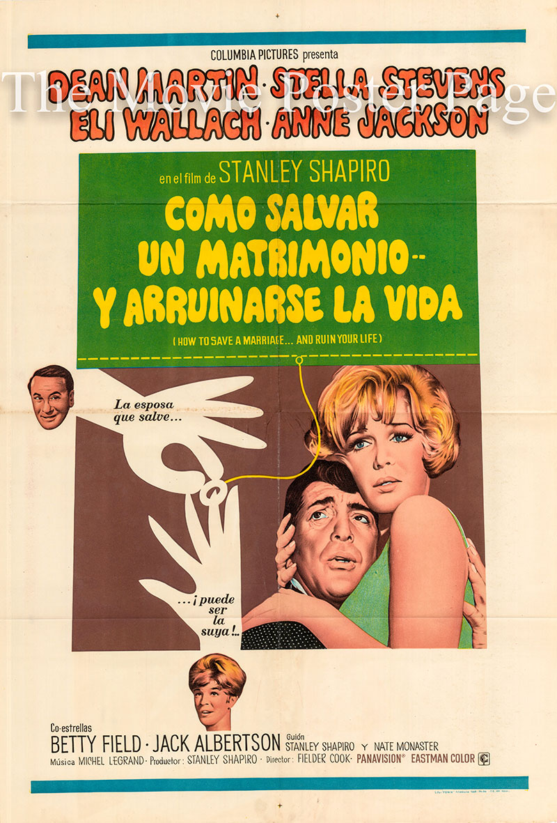Pictured is an Argentine one-sheet poster for the 1968 Fielder Cook film How to Save a Marriage starring Dean Martin.