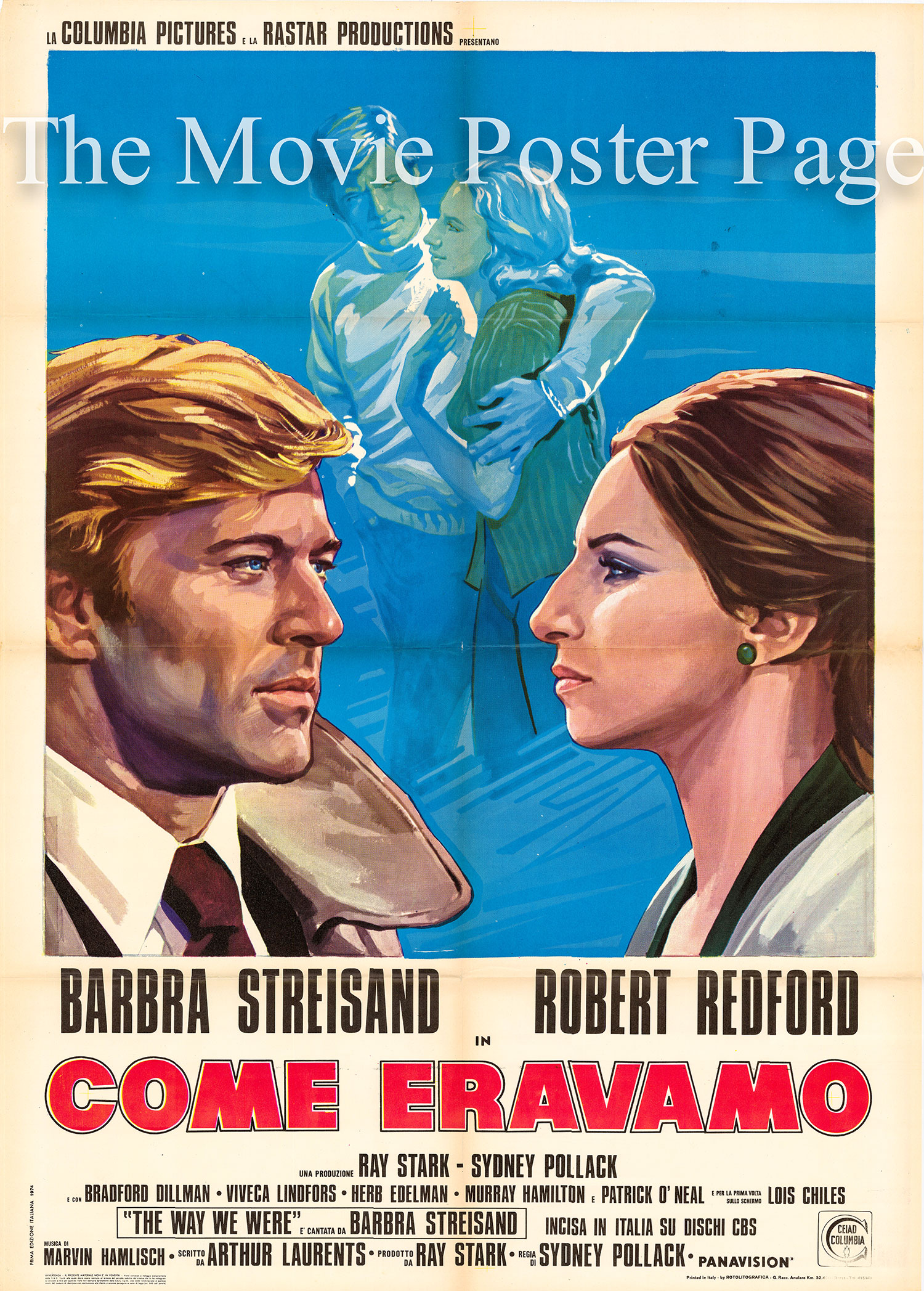 Pictured is an Italian two-sheet poster for the 1973 Sydney Pollack film <i>The Way We Were</a> starring Barbra Streisand.