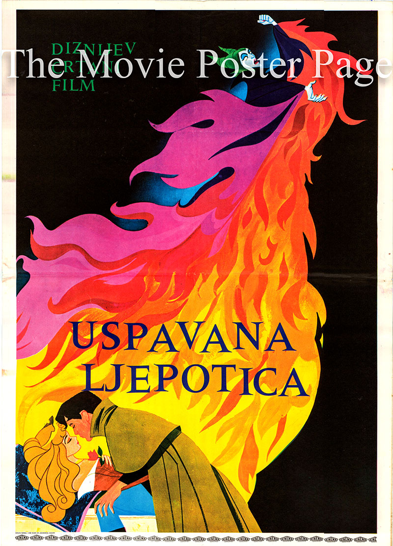Pictured is a Yugoslavian poster for a 1979 rerelease of the 1959 Clyde Geronhimi film Sleeping Beauty starring Mary Costa as the voice of Princess Aurora.