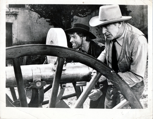 Pictured is a US promotional still photo from the 1954 Robert Aldrich film Vera Cruz starring Gary Cooper and Burt Lancaster.