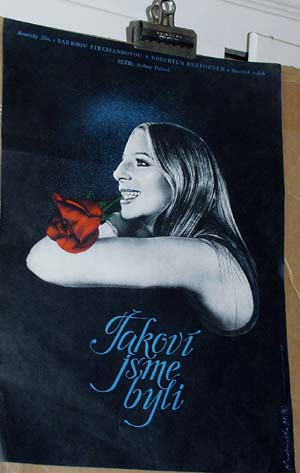 Pictured is a Czech mini promotional poster for the 1973 Sydney Pollack film The Way We Were starring Barbra Streisand and Robert Redford.