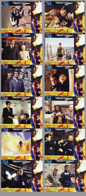 Pictured is a US promotional lobby card set for 2000 Michael Apted film The World Is Not Enough, starring Pierce Brosnan.