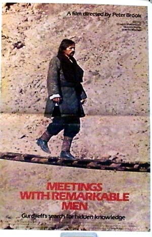pictured is the promotional mini-poster for the 1979 Peter Brook film Meetings with Remarkable Men.