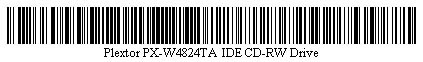 Pictured is a barcode for Plextor PX-W4824TA IDE CD-RW Drive.