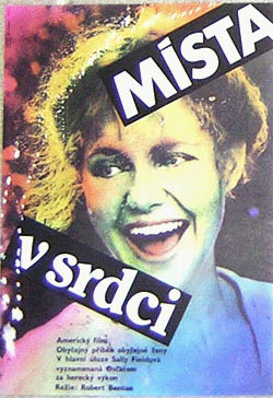 Pictured is a Czech mini promotional poster for the 1985 Robert Benton film Places in the Heart starring Sally Field.