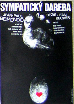 Pictured is a Czech mini promotional poster for the 1967 Jean Becker film Tender Scoundrel starring Jean-Paul Belmondo.