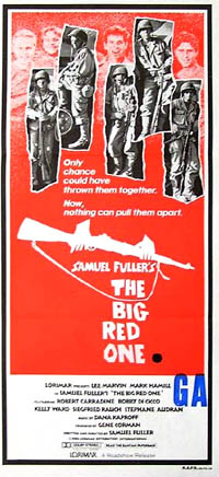 Pictured is an Australian daybill promotional poster for the 1980 Samuel Fuller Film The Big Red One starring Lee Marvin.